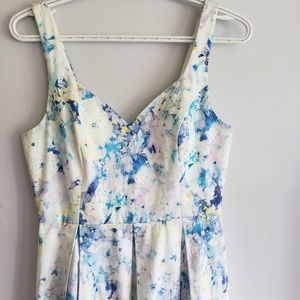 Ever New Watercolor Fit & Flare Dress